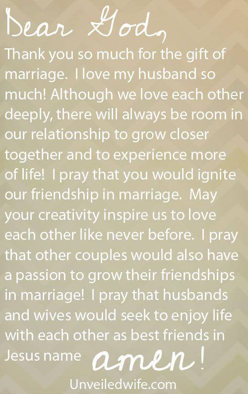 Friendship In Marriage