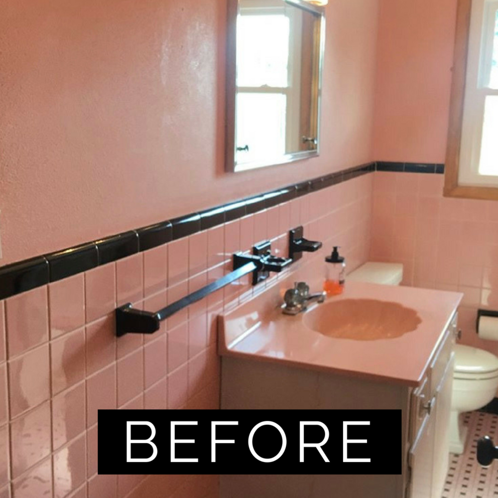 Photo of Pink Tile Bathroom Refresh — T. MOORE HOME | Design, DIY, and Affordable Decorating Ideas