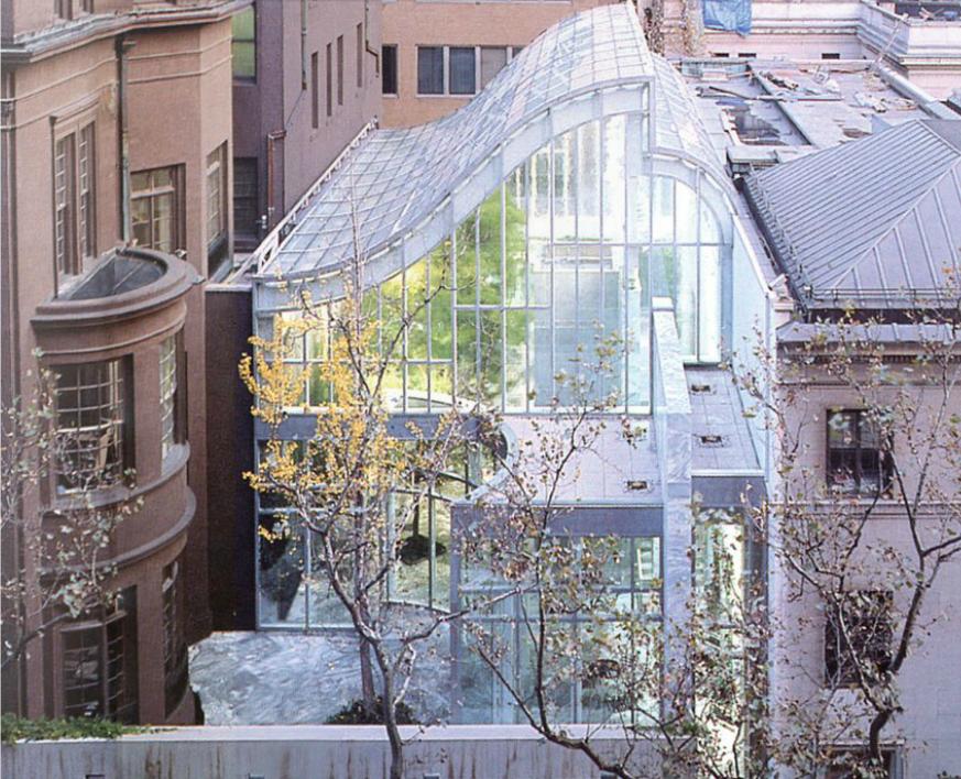 piano glass building