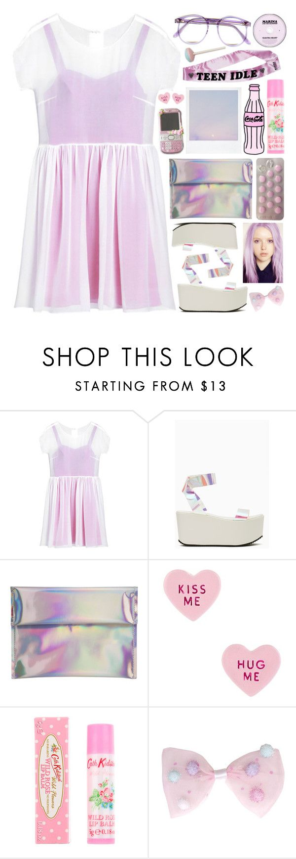 """""""Pink Empire"""" by seasthemoment ❤ liked on Polyvore featuring Mulberry, UNIF, Betsey Johnson, Warehouse and Cath Kidston"""