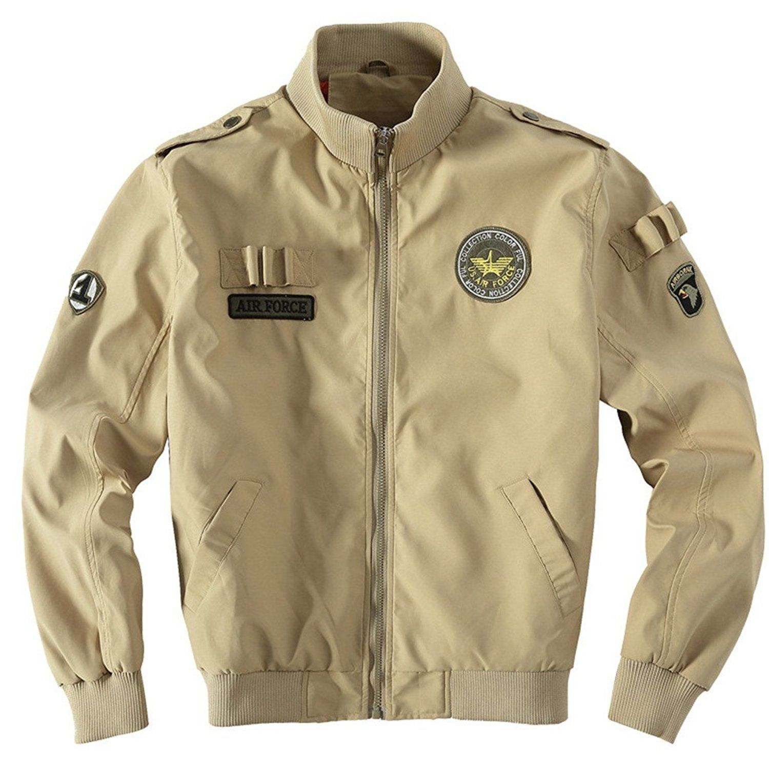 SZYYSD Men's Cotton Military Air Force Bomber Jackets USA