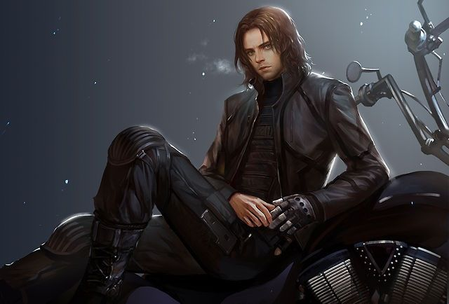Bucky Barnes - The Winter Soldier fan art  OH MY GOSH this