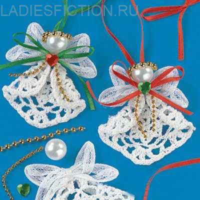 Новогодние декор: вязанные игрушки и украшения