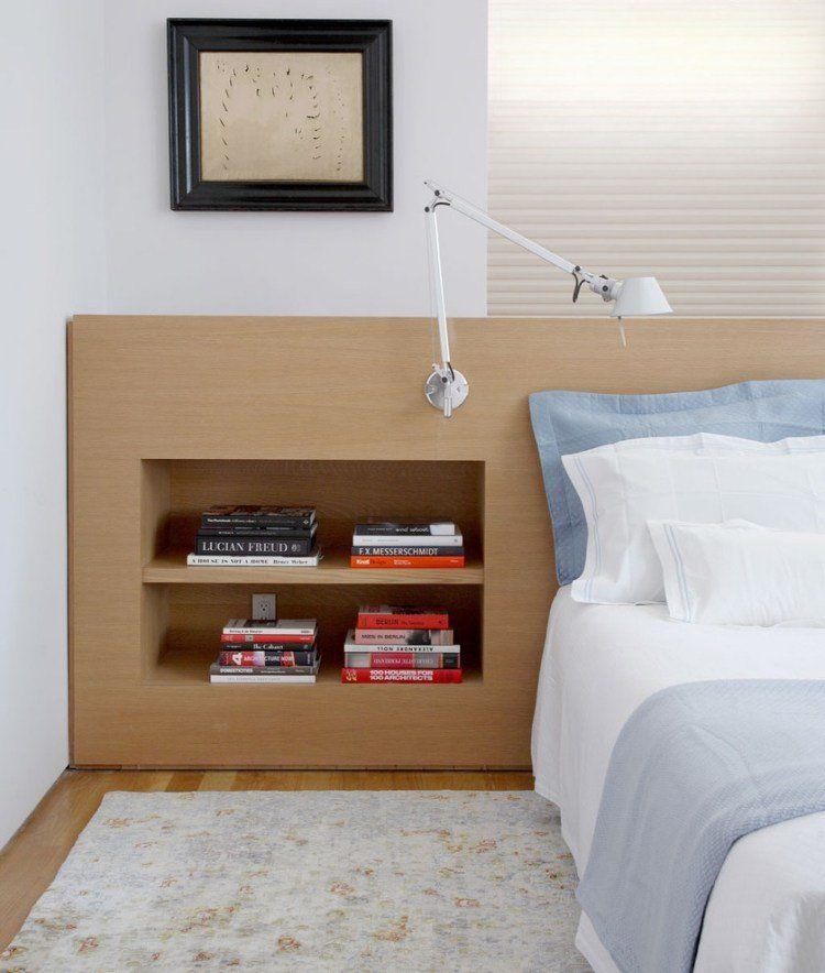 Tête de lit avec rangement en 57 dées pour ranger et décorer - peindre un lit en bois