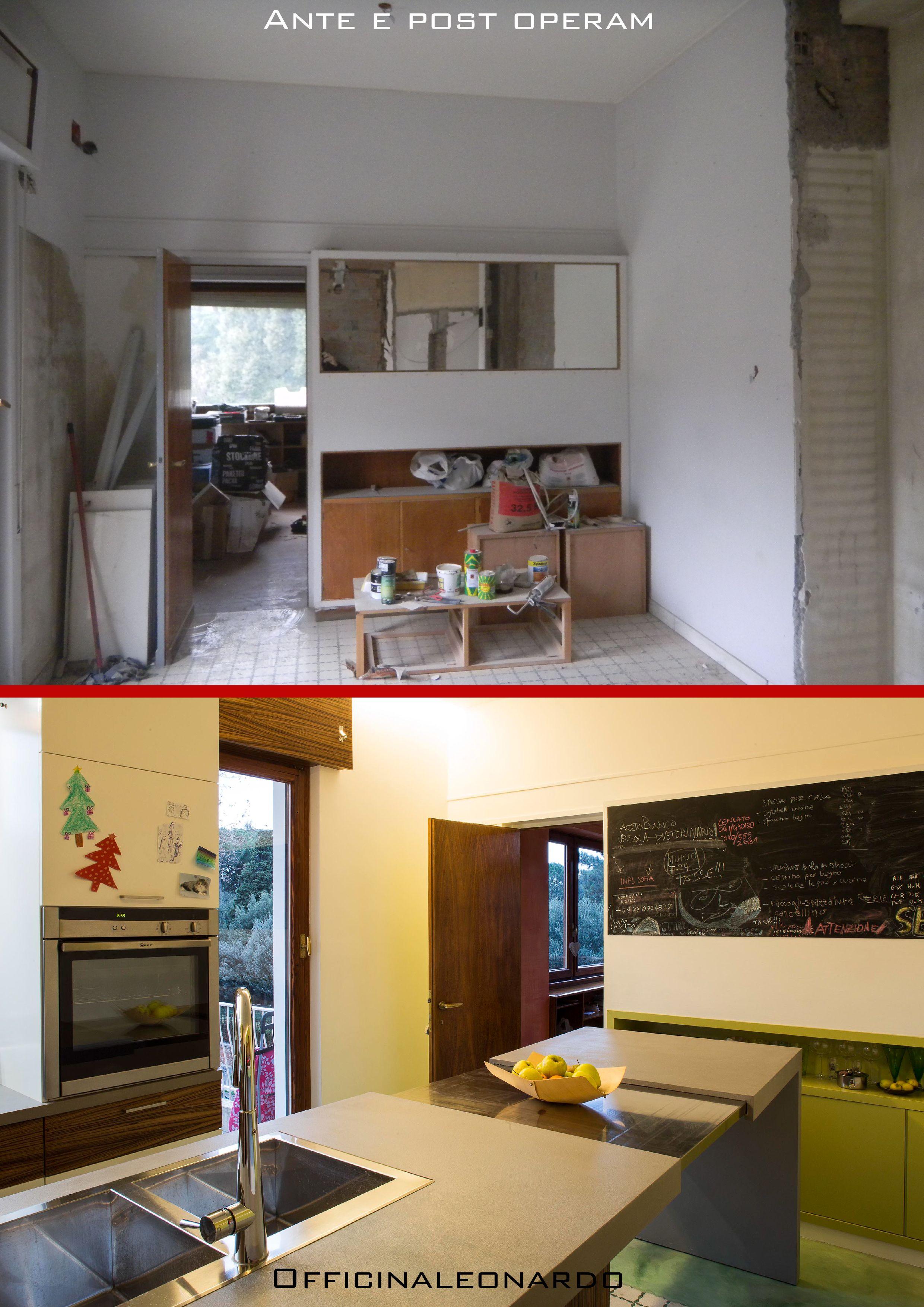 Realizzazione di una moderna cucina, progettata su misura