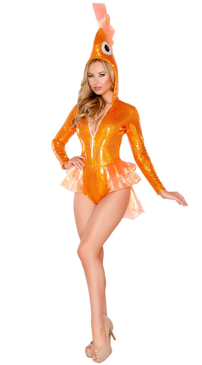 9f9032fc16 Deluxe Sexy Goldfish Costume. Sparkly Goldfish Costume