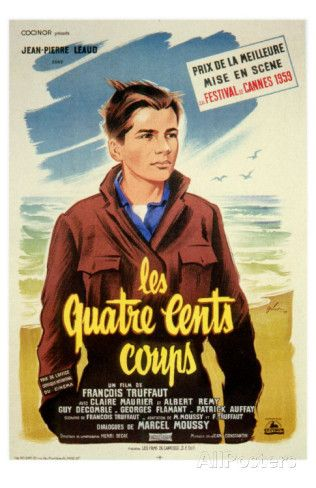 400 Blows French Movie Poster 1959 Photo French Movie Posters Blow Movie Movie Posters Vintage