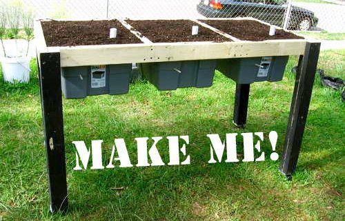 Build A Self Watering Salad Table Diy Raised Garden 400 x 300