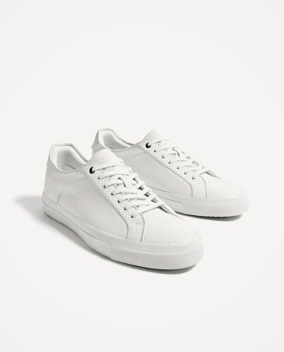 Hombre Blanco Tenis Zapatillas