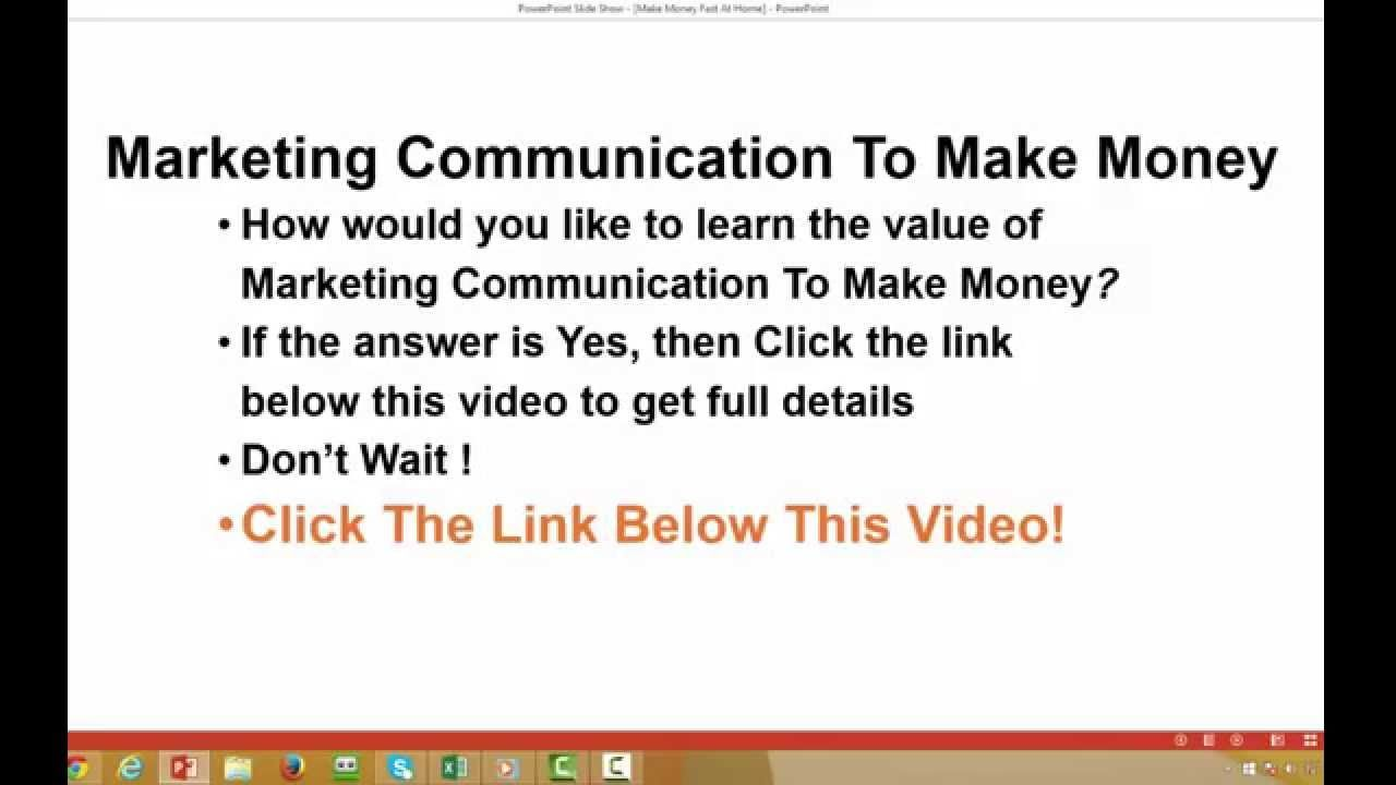 Learn The Value Of Marketing Communication To Make Money
