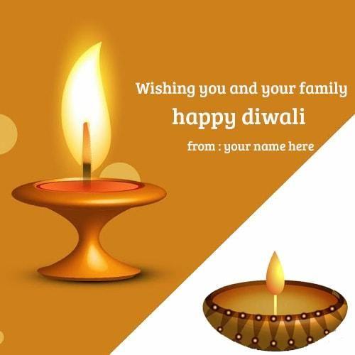 Write Name On Diwali Greeting Card Online Happy Diwali Images With Name Edit Print Name Happy Diwali Di Happy Diwali Happy Diwali Wishes Images Diwali Wishes