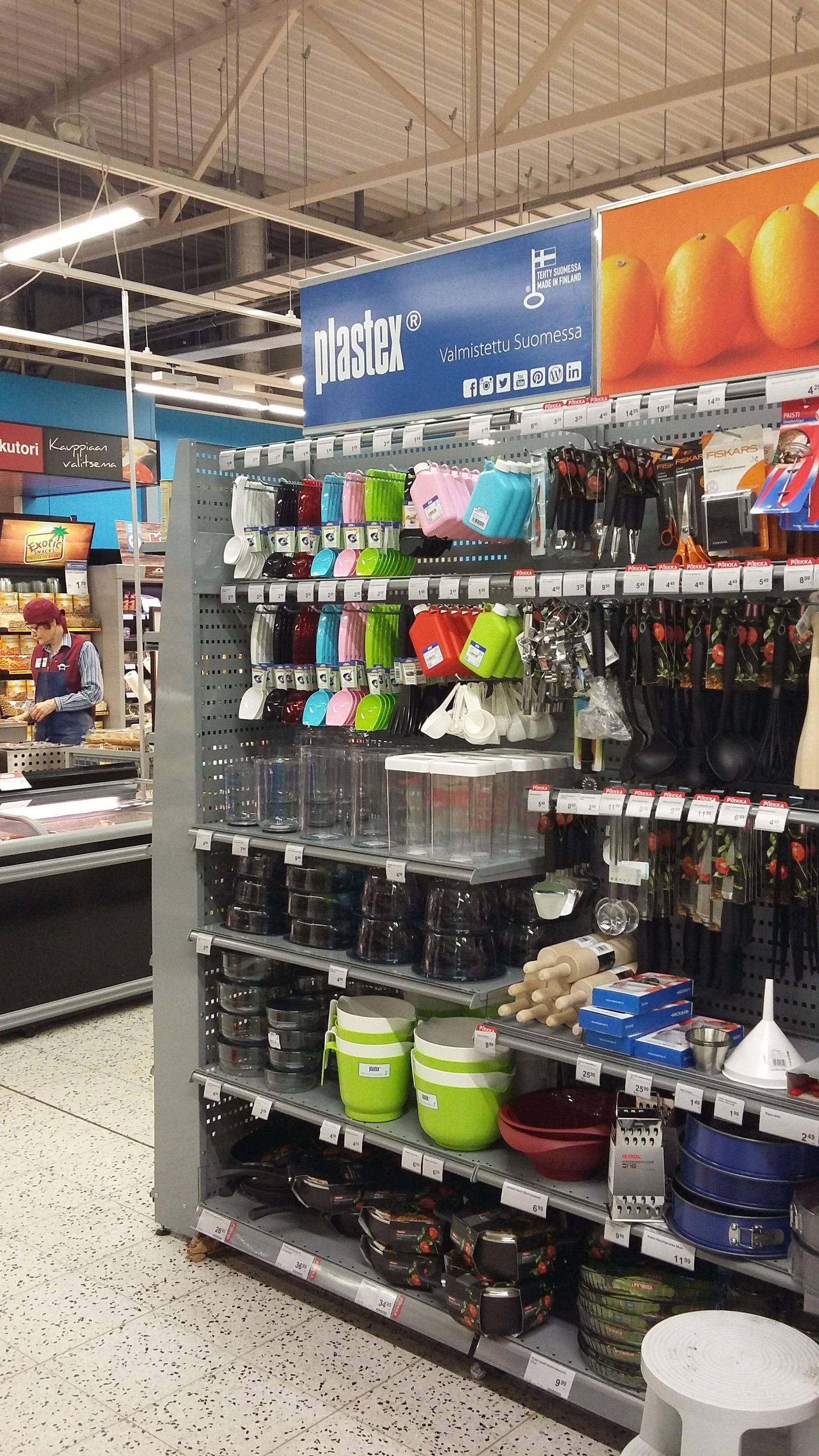 K-Supermarketissa Plastex hyllymoduuli!  Made in Finland