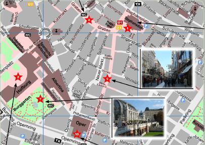 Vienna Tourist Map