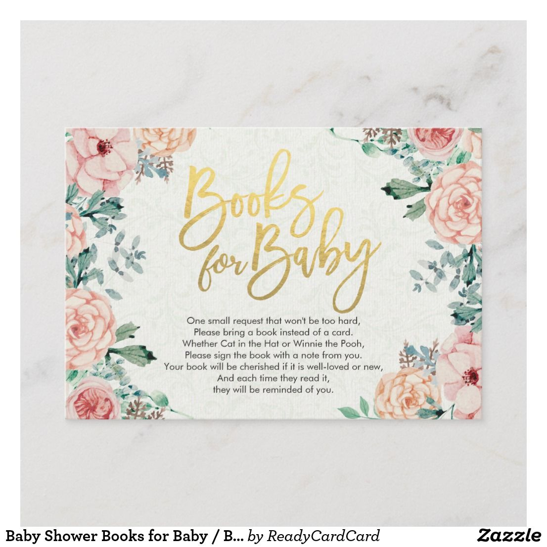 48+ Baby shower bring a book instead of a card template information