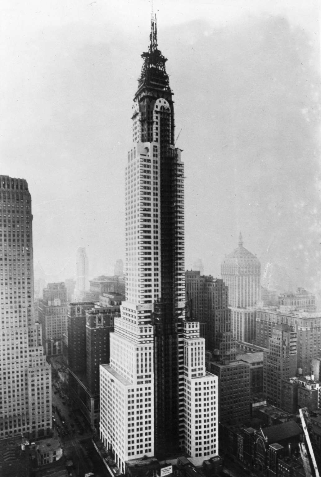Last stages in the construction of the Chrysler building, New York. - Fox Photos/Getty Images