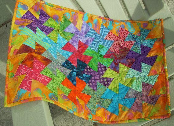 Bright pinwheels.