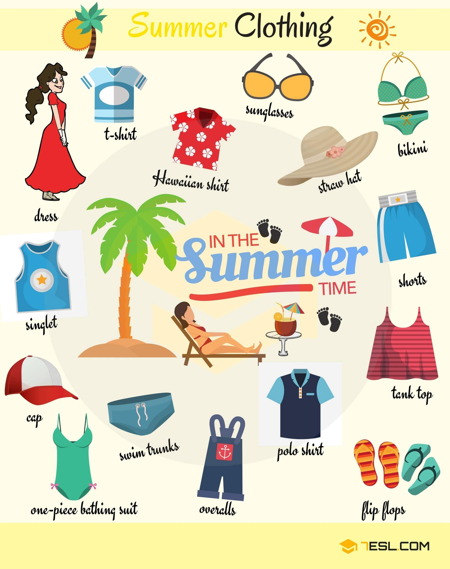 Summer Clothes In English