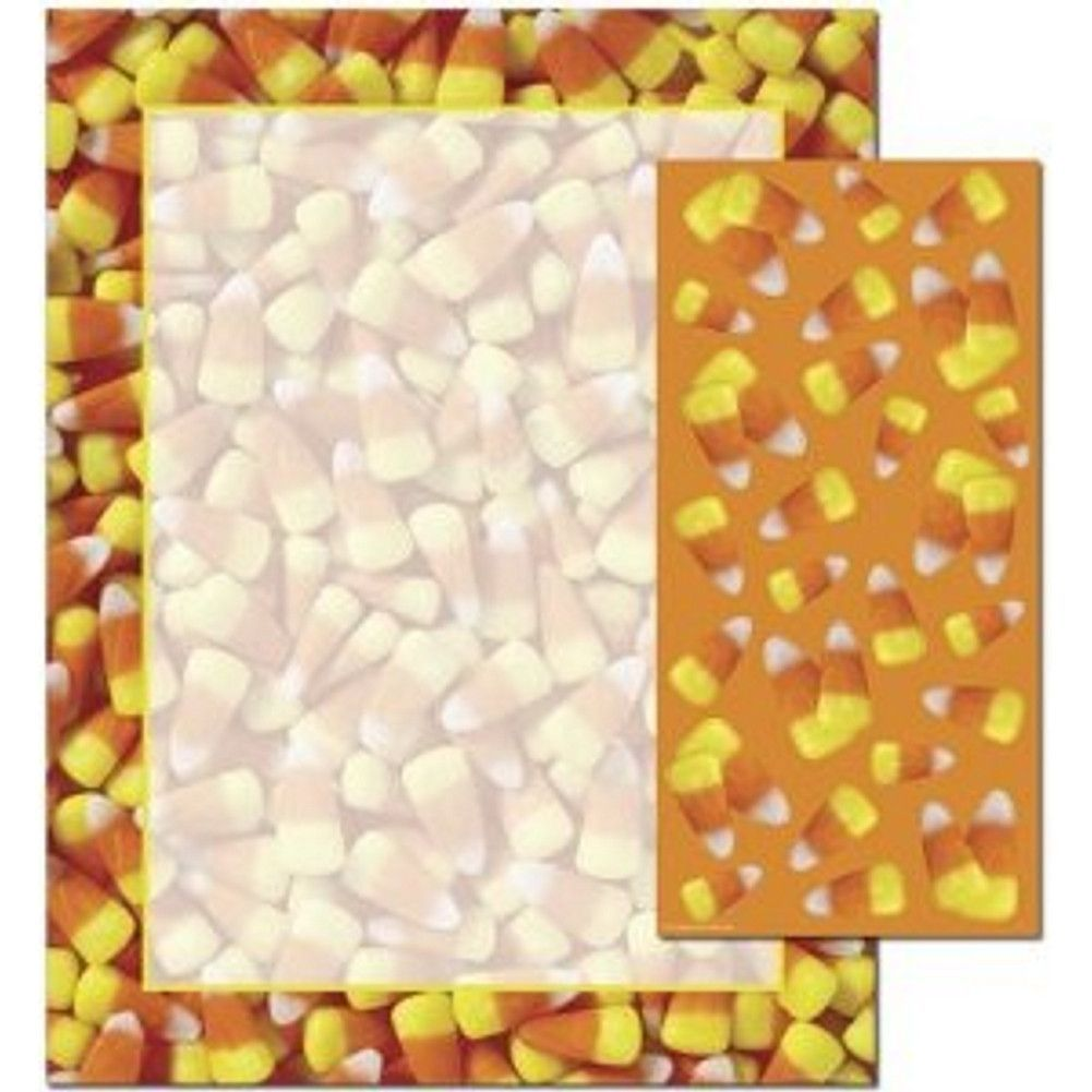 Candy Corn Letterhead Sheets and Coordinating Candy Corn Stickers