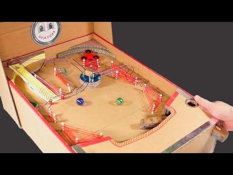 24 Diy Cardboard Fidget Spinner Pinball Machine Part 2