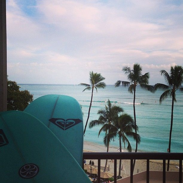 Photo stolen from @Kelly Teske Goldsworthy Spencer Alvarez Moniz  Beautiful first day of the ROXY #waikikiclassic! See you all bright and early tomorrow! Xo