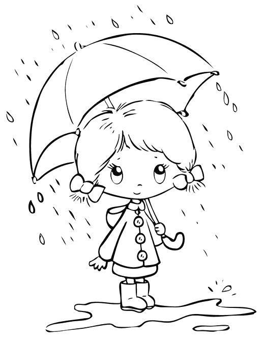 Yağmur Temalı Boyama Sayfaları Boyama Sayfalari Pinterest