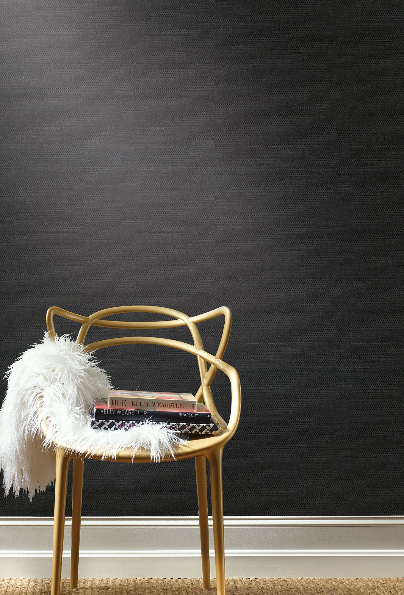 Magnolia Home Grasscloth Sisal Wallpaper Black