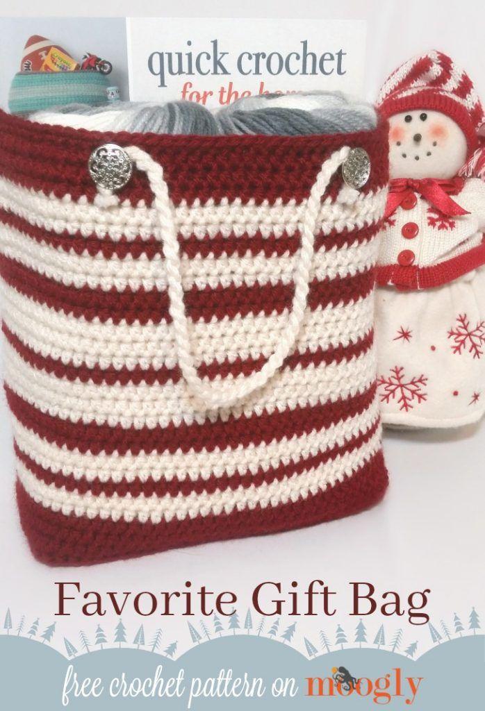 Favorite Gift Bag   Granny Square Patterns   Pinterest   Bolsos ...