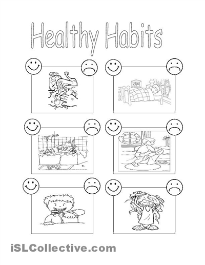 Fitness, Nutrition and Health Free K-8 Printables