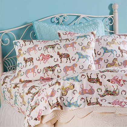 horse and pony sheets and bedding for kids
