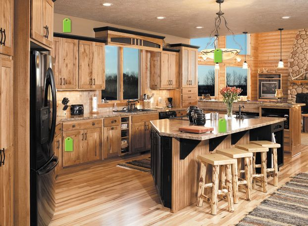 Best Hickory Cabinets With Black Accents … Hickory Kitchen 400 x 300