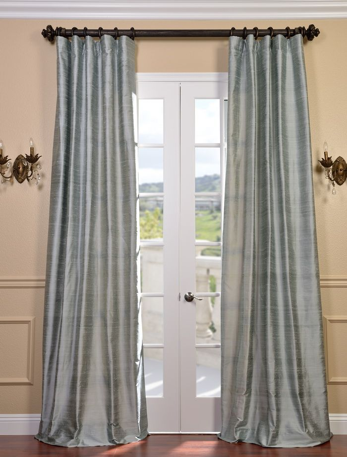 Sline Textured Dupioni Silk Curtains And Ds