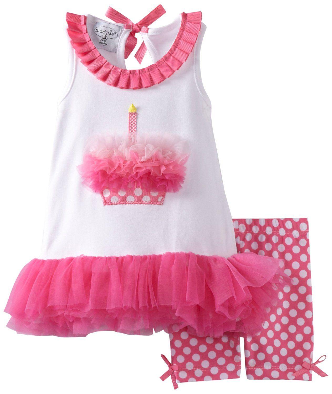 Amazon Mud Pie Baby Girls Newborn Cupcake Tunic And Shorties Set Clothing