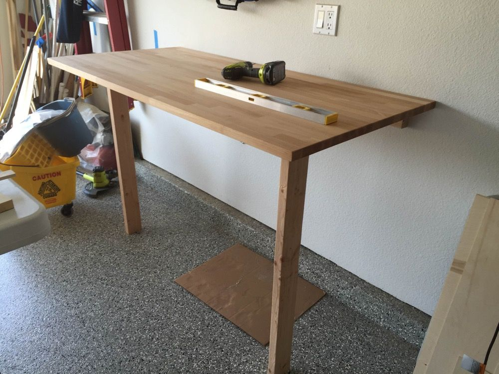 The Rock Gerton Table Top Drop Down Workbench Ikea Hackers Ikea Work Table Ikea Drop Down Table