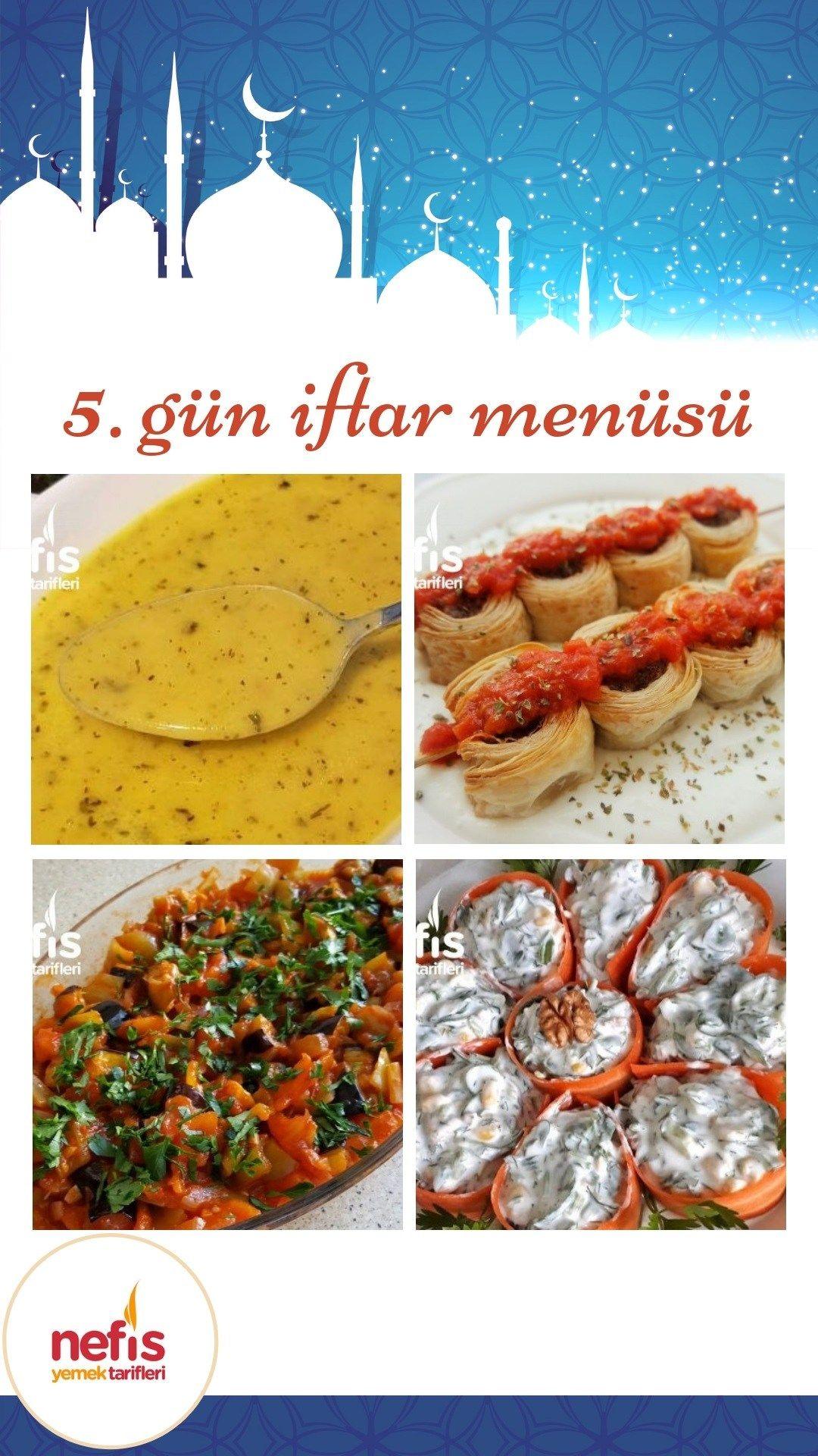 Iftar Menuleri Icin 5 Gundeyiz Sebzeli Yayla Corbasi Siste Milfoylu Kofte Saksuka Sik Sunumlu Semizotu Salatasi Ve Fistikli Su Yemek Tarifleri Yemek Iftar