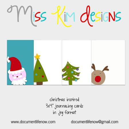 Free Christmas project life journal card download.