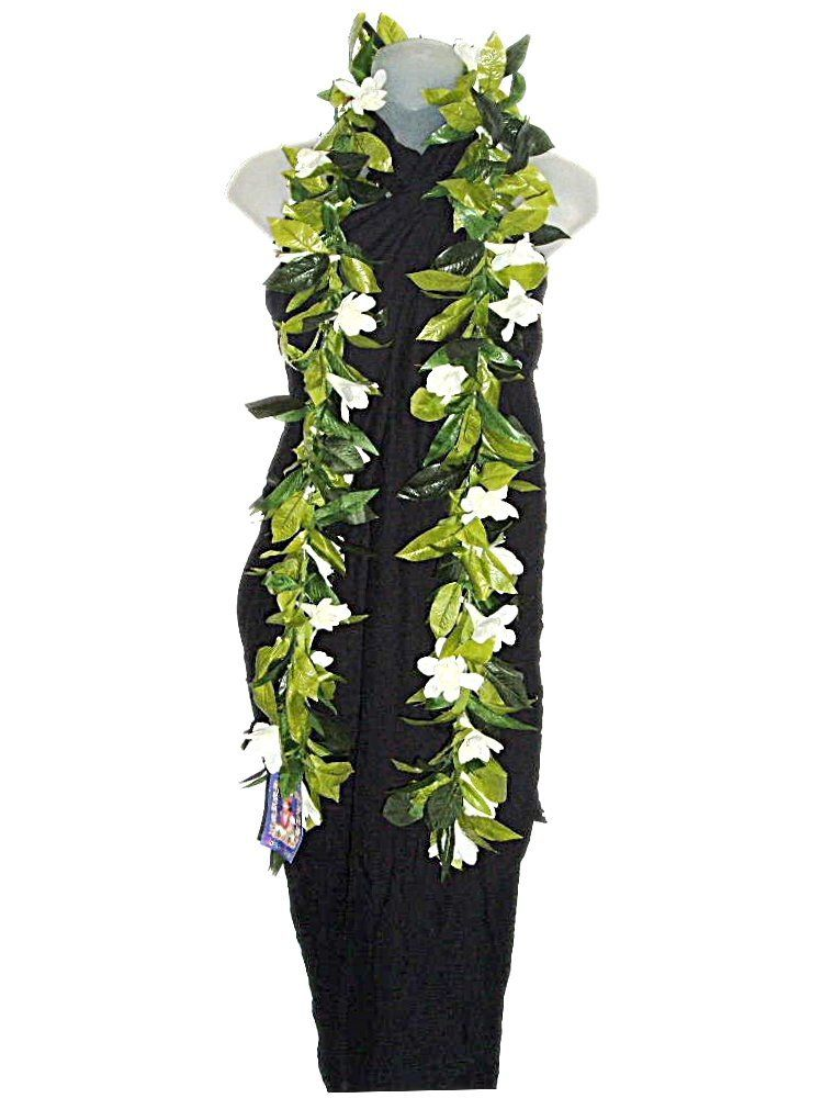 HAWAIIAN MAILE TUBEROSE FLOWER 62' SILK LEAF OPEN LEI * For more information, visit image link.
