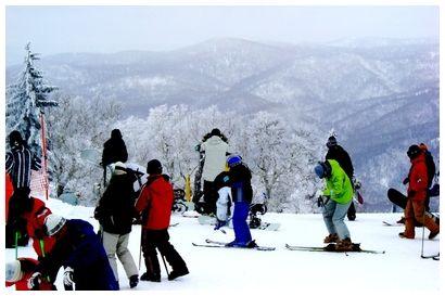 Powder snow on Sapporo Kokusai Ski Slopes, Hokkaido