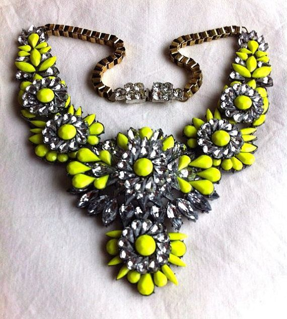 """Etsy (re)seller claims this brand new necklace is """"vintage"""".  You can buy it from one of the other Etsy shops shipping from China, selling it as """"handmade"""" -- and save!  http://www.etsy.com/listing/181576427/shourouk-inspired-statement-necklace?ref=market"""