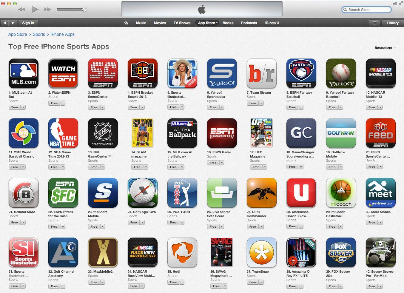 TeamSnap Mobile App in iTunes Top 40 List Blackberry