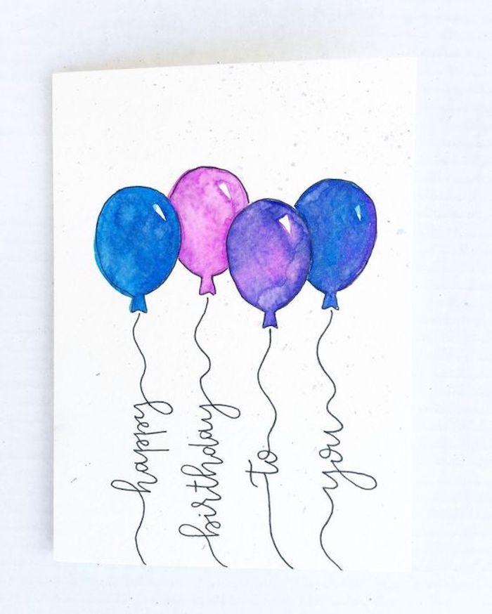1001 Idees De Dessin D Anniversaire Joli Et Simple A Faire Diy Carte Anniversaire Dessin Anniversaire Idee Carte Anniversaire
