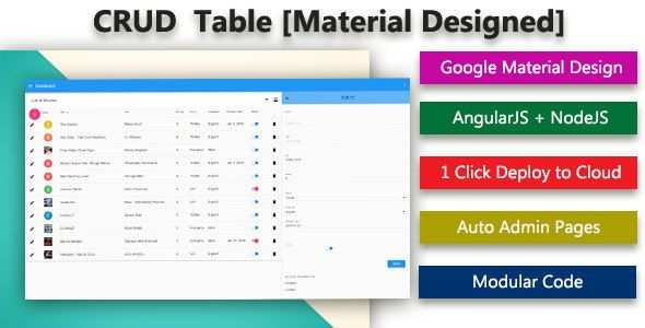 Download Free Database CRUD Generator - Material Designed