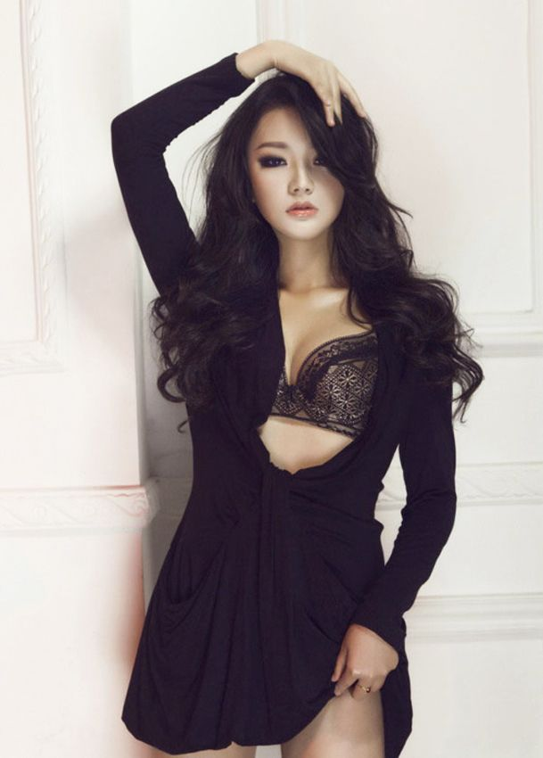 Possible fill asian models black bra excellent and