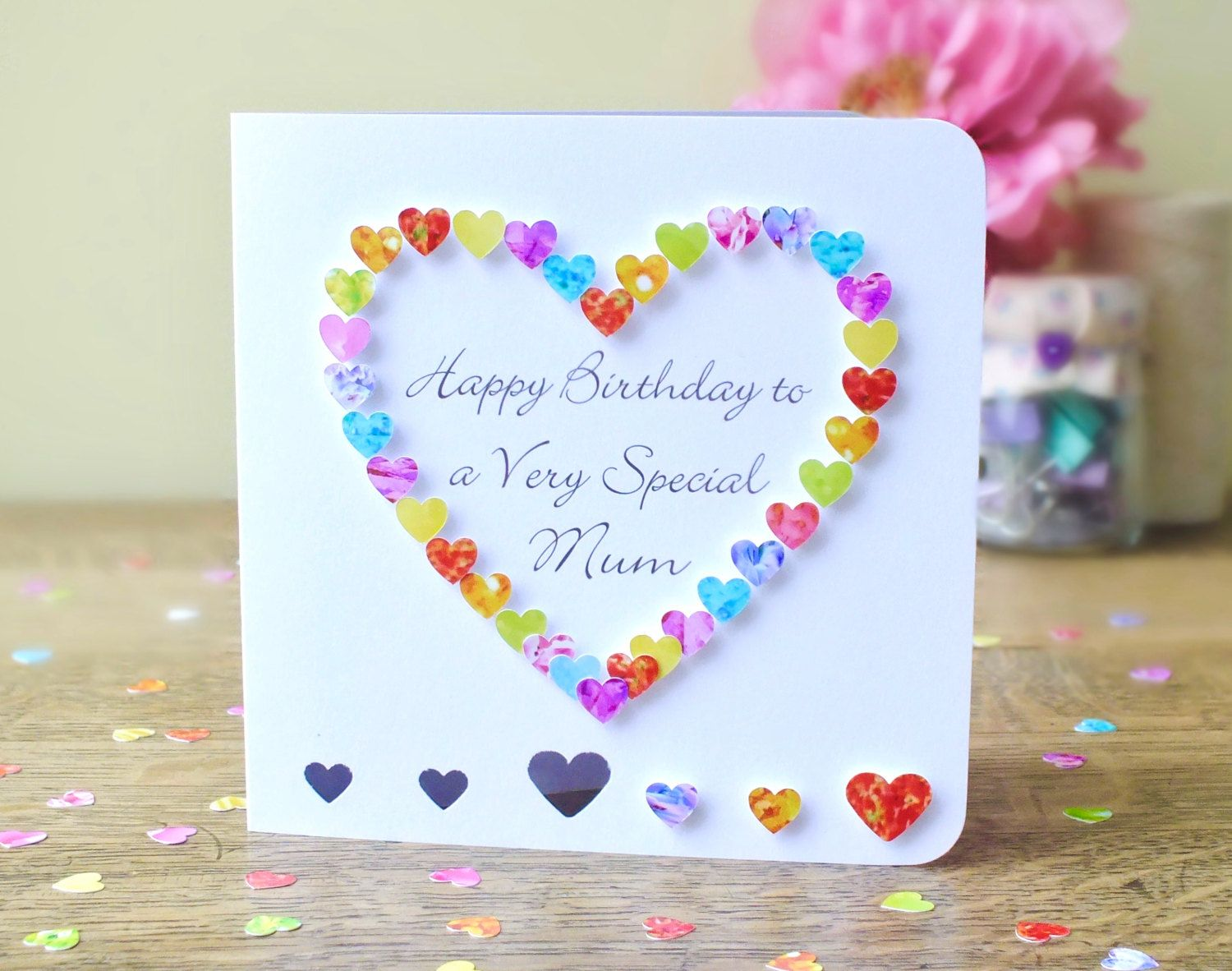 Birthday Card For Mum Happy Birthday To A Very Special Mum Etsy Birthday Cards For Niece Simple Birthday Cards Happy Birthday Cards Handmade