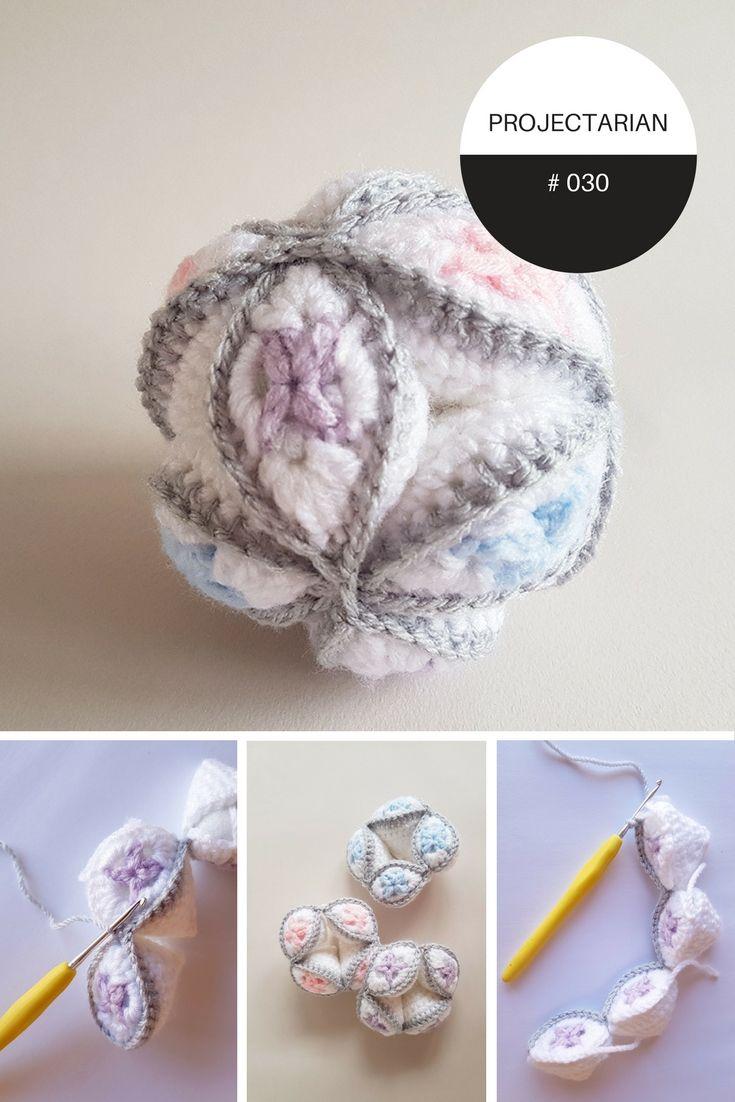 Project 030 Harlequin Puzzle Ball Pinterest Häckeln