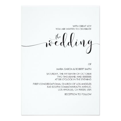 Simple minimalist calligraphy wedding invitation wedding simple minimalist calligraphy wedding invitation wedding invitations cards custom invitation card design marriage party wedding invitations pinterest stopboris