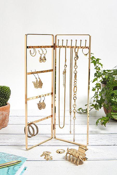 Jewelry tree jewelry holder in 3 levels elegantly simple minimalist jewelry organizer showcase display for jewelry