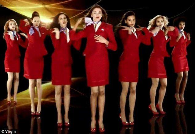 Virgin airlines flight attendant