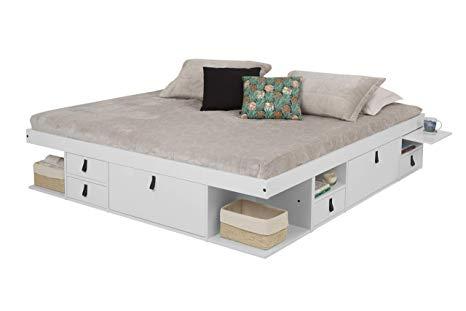 Amazon Com Memomad Bali Storage Platform Bed With Drawers King