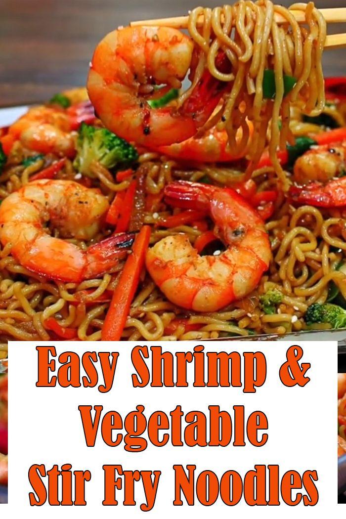 Very Easy Shrimp and Vegetable Stir Fry Noodles