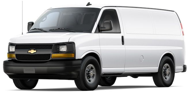 2017 Chevrolet Express Cargo Van Front View Chevy Express Cargo
